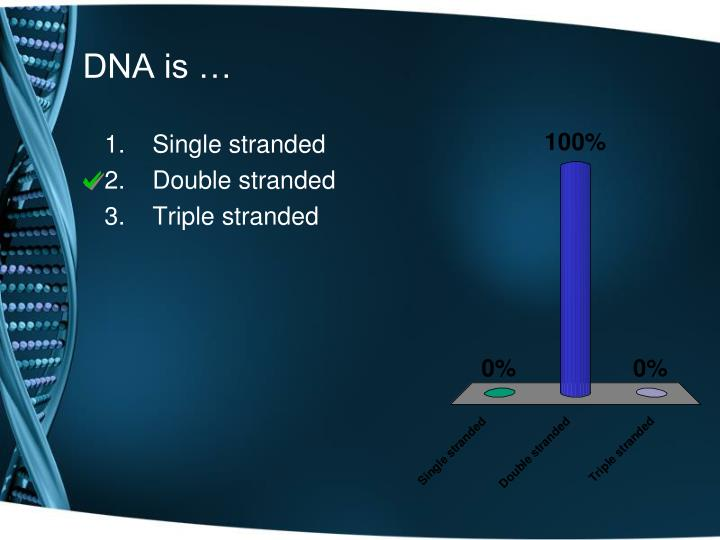 DNA is …