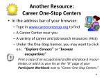 another resource career one stop centers