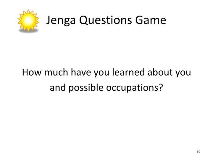 Jenga Questions Game