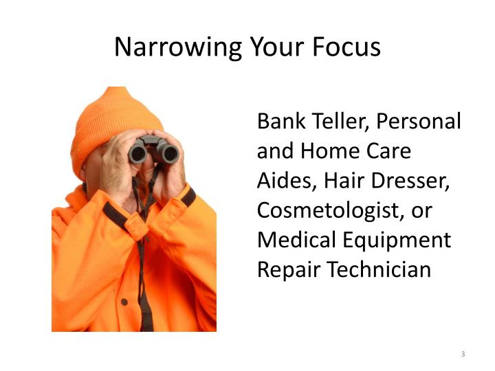 Narrowing Your Focus