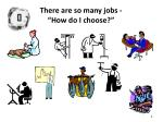 there are so many jobs how do i choose