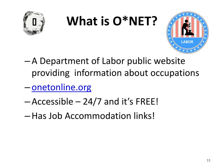 What is O*NET?