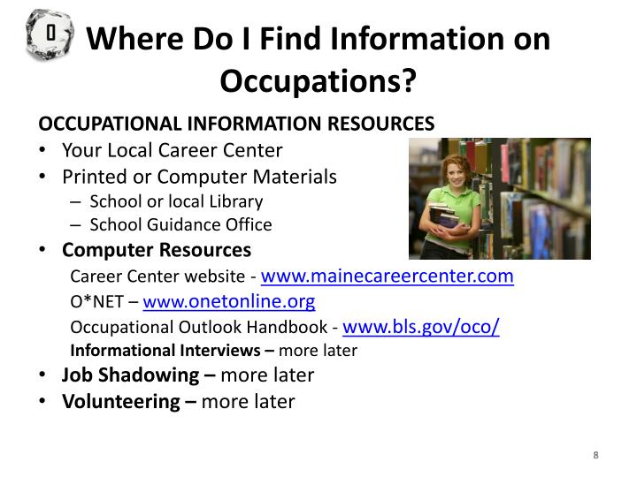 Where Do I Find Information on Occupations?