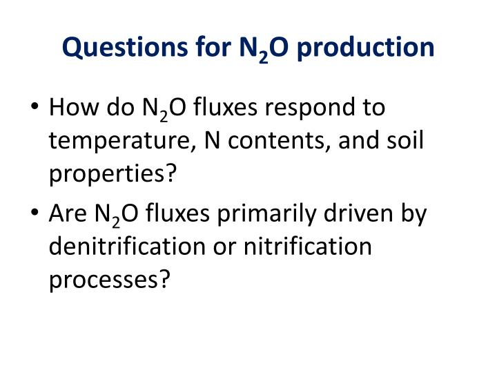Questions for N