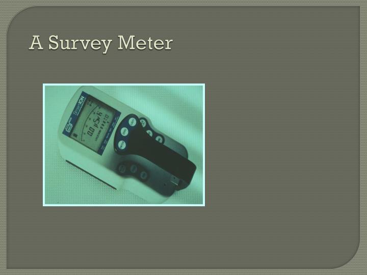 A Survey Meter