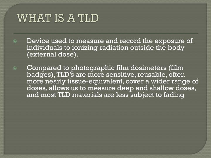 WHAT IS A TLD
