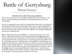 battle of gettysburg primary sources3