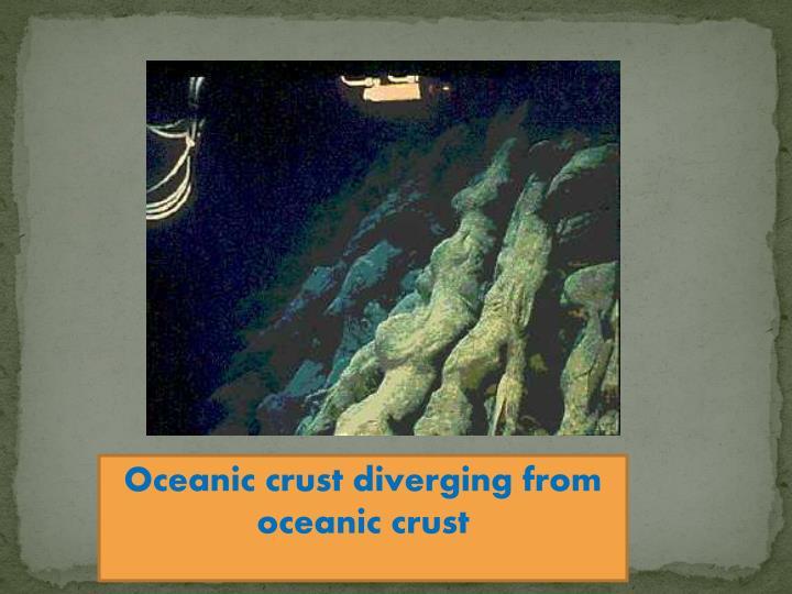 Oceanic crust diverging from oceanic crust