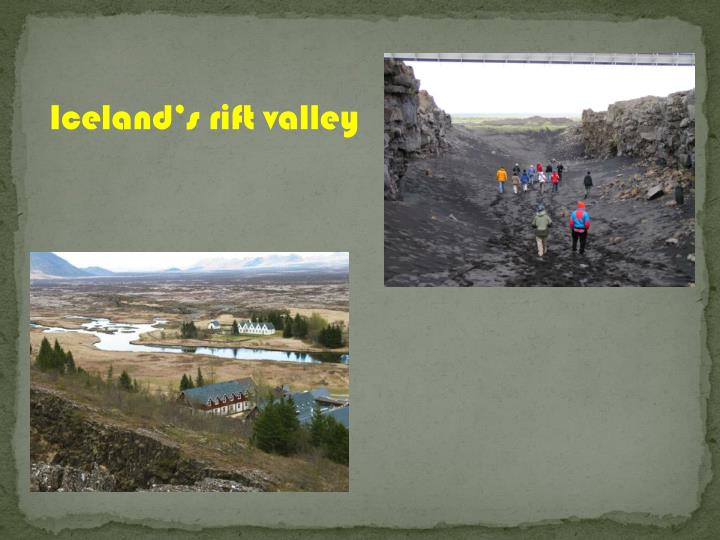 Iceland's rift valley