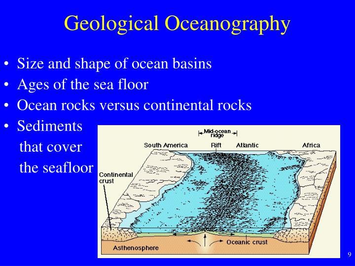 Geological Oceanography