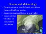 oceans and meteorology