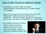 how to win friends influence people