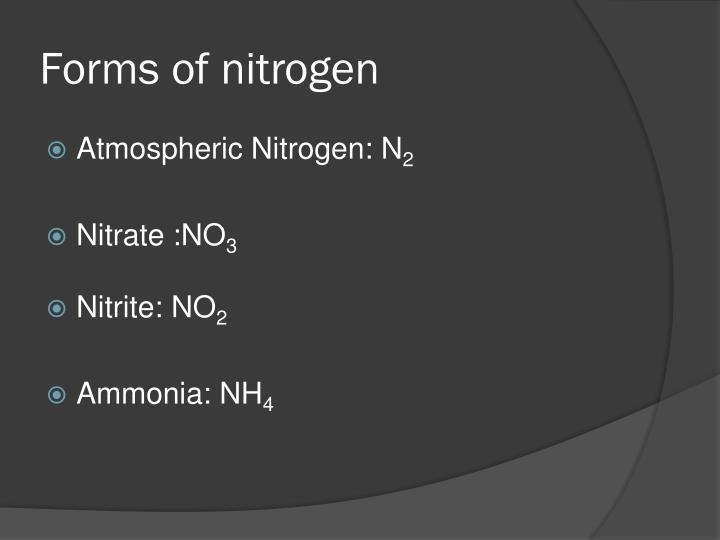 Forms of nitrogen