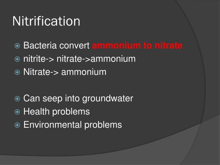 Nitrification