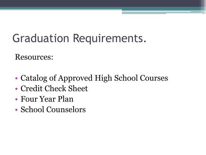 Graduation Requirements.
