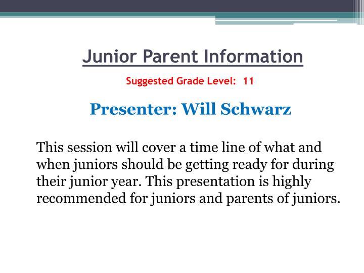 Junior Parent Information