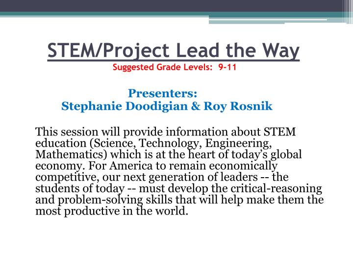 STEM/Project Lead the Way