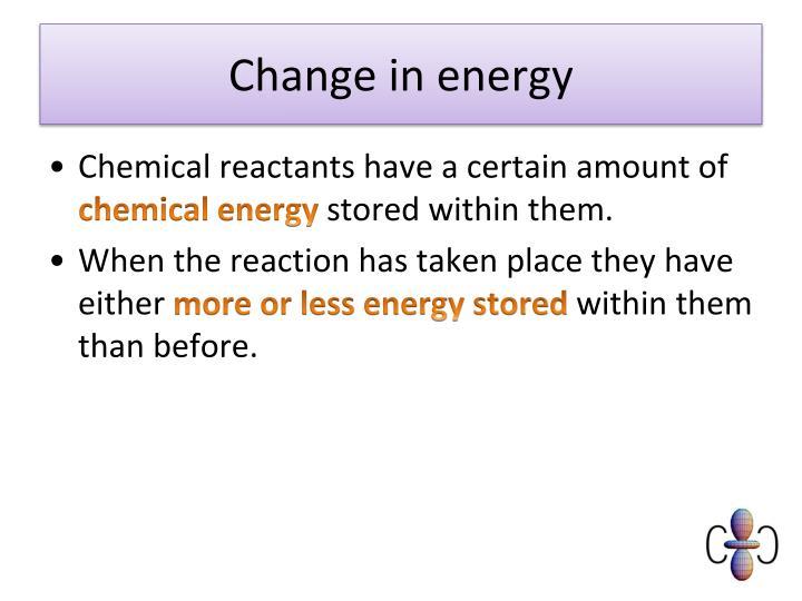 Change in energy