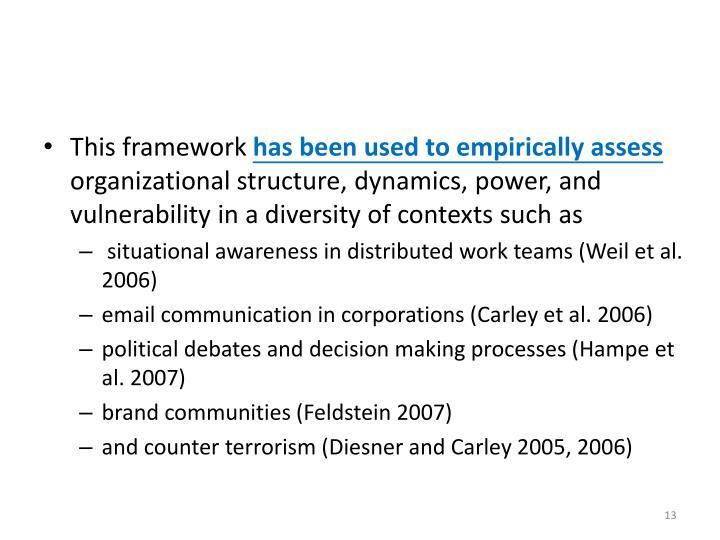 This framework