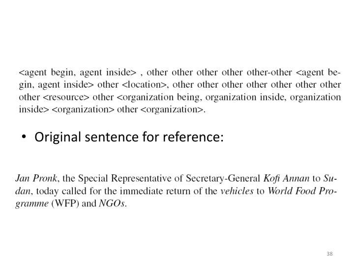 Original sentence for reference:
