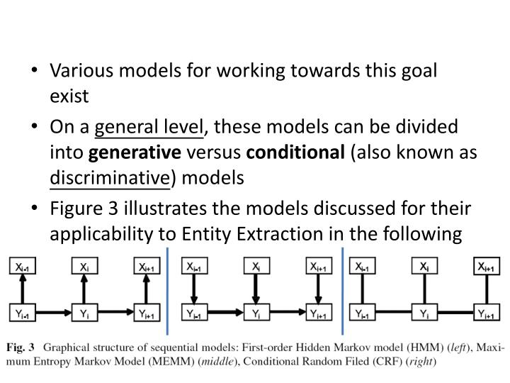 Various models for working towards this goal exist