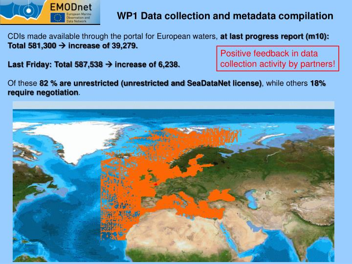 WP1 Data collection and metadata compilation