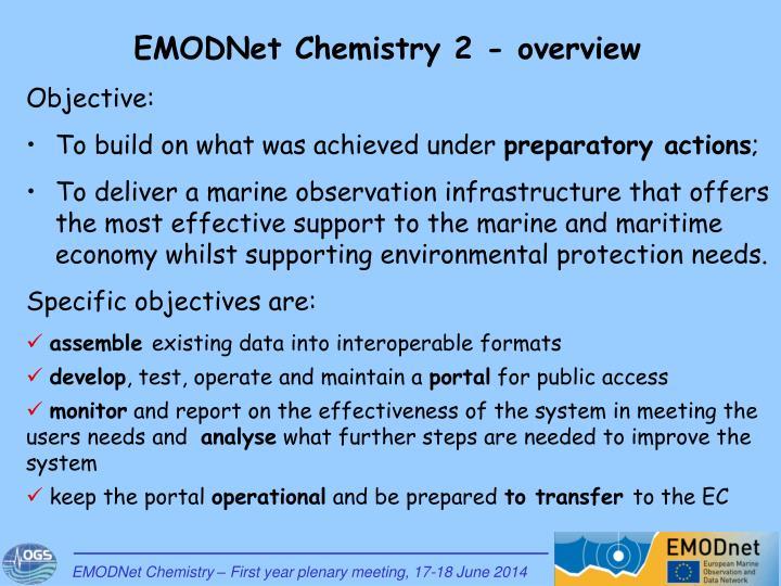 EMODNet Chemistry 2 - overview