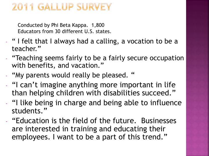 2011 Gallup Survey