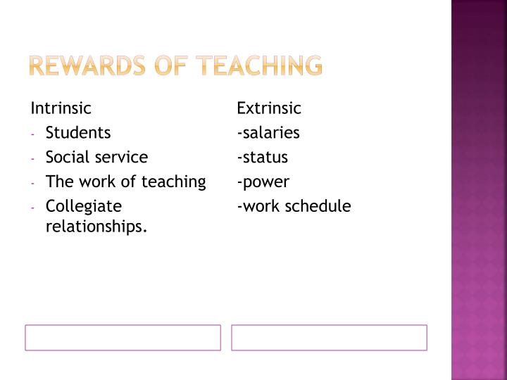 Rewards of Teaching