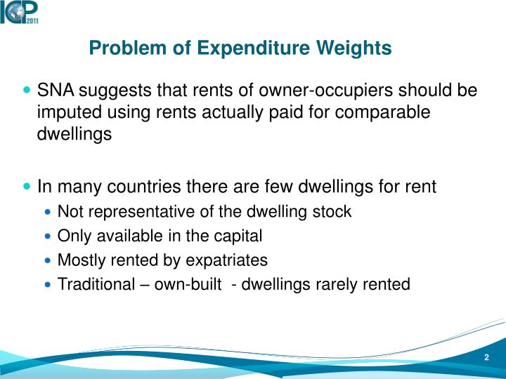Problem of Expenditure Weights