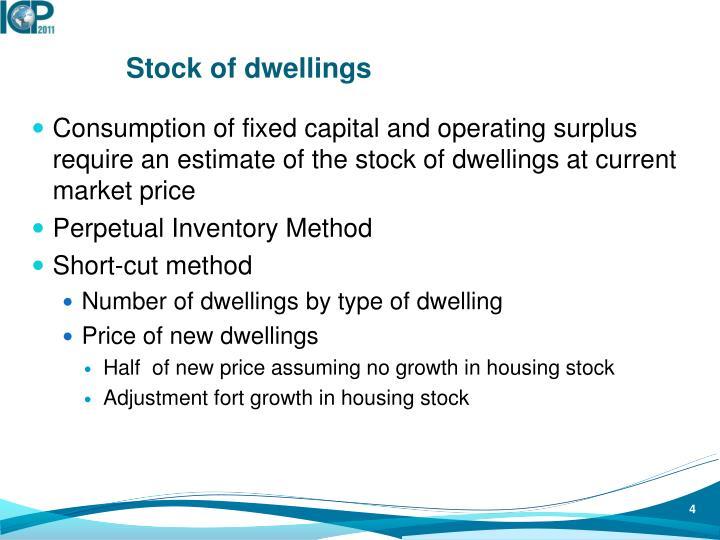 Stock of dwellings