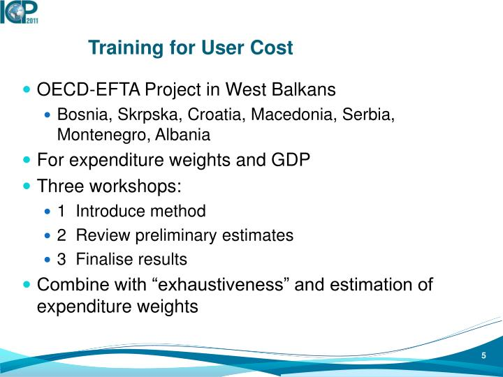 Training for User Cost