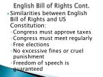 english bill of rights cont