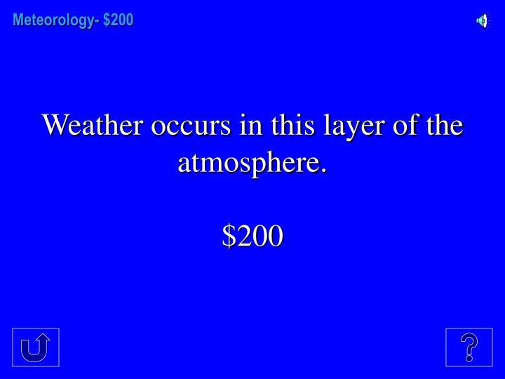 Meteorology- $
