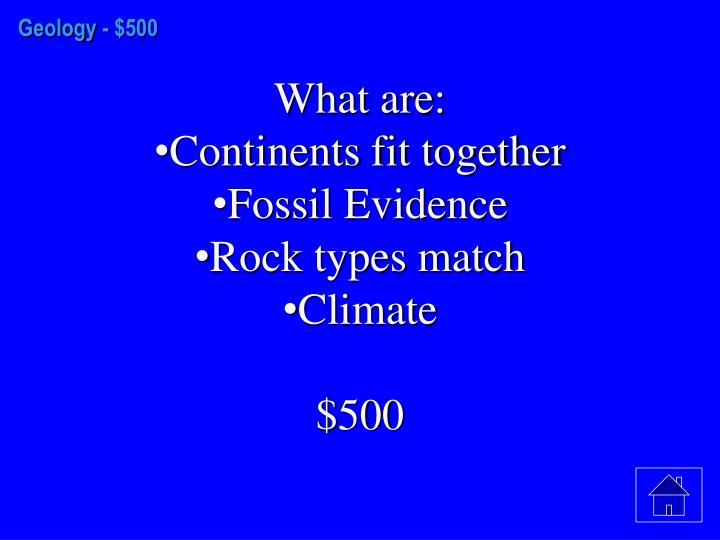 Geology -