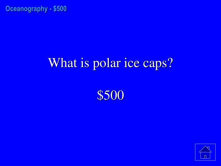 Oceanography -