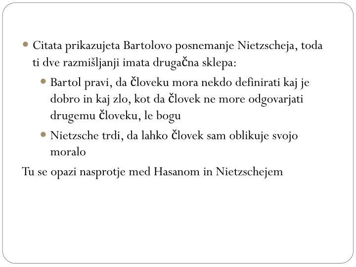Citata prikazujeta Bartolovo posnemanje