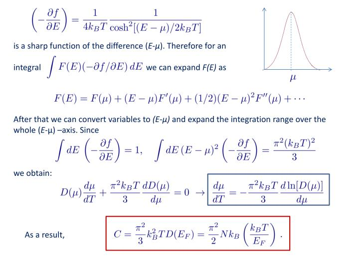 is a sharp function of the difference (