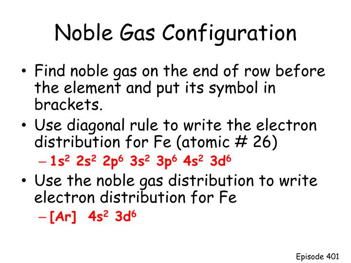 Noble Gas Configuration