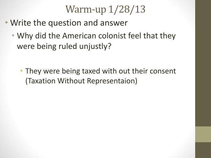 Warm-up 1/28/13