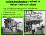 harlem renaissance a rebirth of african american culture