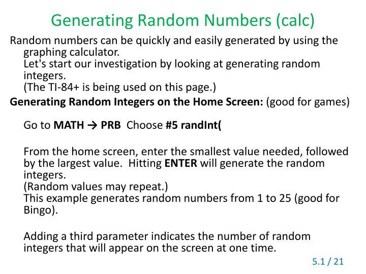 Generating Random