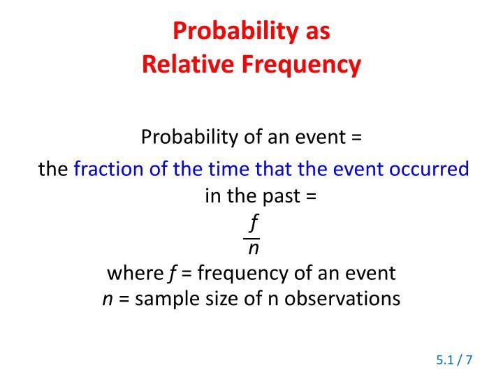 Probability as