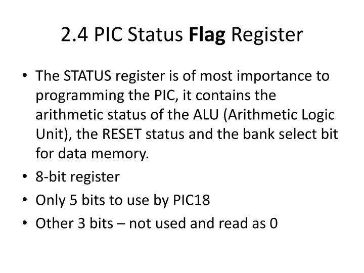 2.4 PIC Status