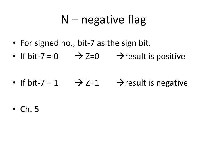 N – negative flag