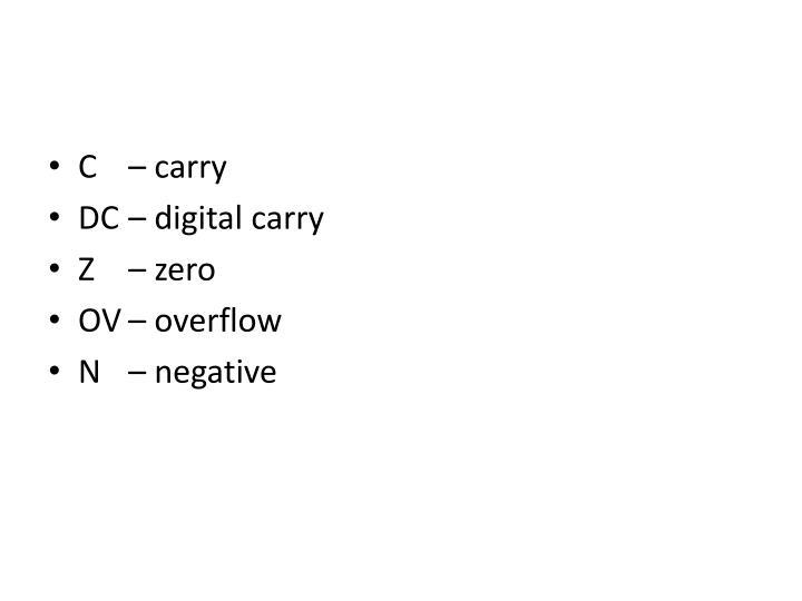 C – carry