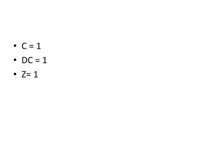 C = 1