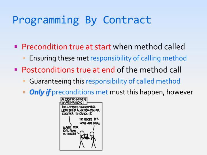 Programming By Contract
