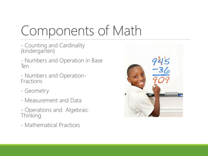 Components of Math