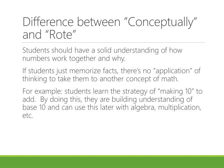 """Difference between """"Conceptually"""